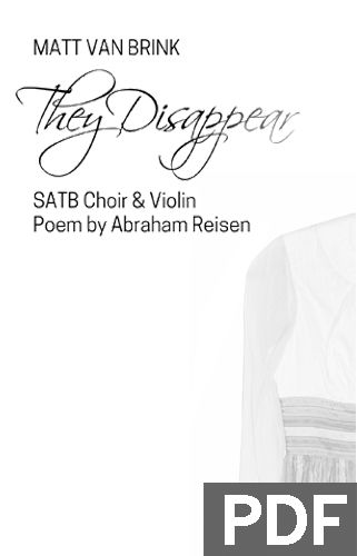They Disappear - Mixed Chorus (SATB) & Violin